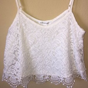 💕3 for $15💕Ambiance Apparel Lace Crop Tank